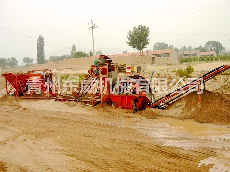 挖斗洗沙机二次洗沙设备生产线